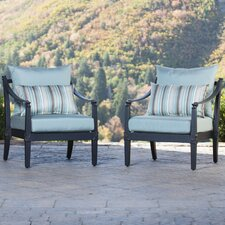 Astoria Club Chairs with Cushions (Set of 2)