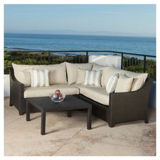 Slate Deco 4 Piece Deep Seating Group with Cushions