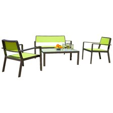 Sol Sling 4 Piece Seating Group with Cushions