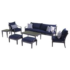 Astoria 8 Piece Sofa and Club Chair Deep Seating Group with Cushions