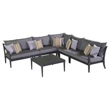 Astoria 6 Piece Corner Sectional Seating Group with Cushions
