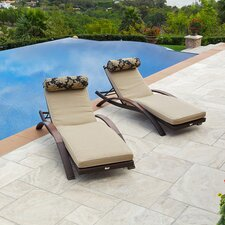 Delano Arc Lounger with Cushion (Set of 2)