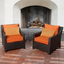 Tikka Deco Club Chair with Cushions (Set of 2)