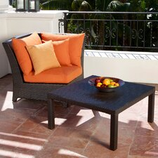 Tikka Deep Seeting Corner Chair with Cushions and Coffee Table