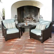 Bliss 3 Piece Deep Seating Group with Cushions