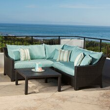 <strong>RST Outdoor</strong> Bliss 4 Piece Deep Seating Group with Cushions