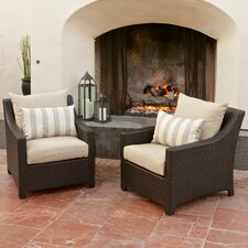 Slate Deco Club Chair with Cushions (Set of 2)