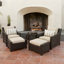 Slate Deco 5 Piece Deep Seating Group with Cushions