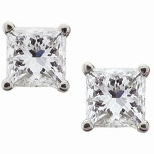 <strong>A Jewelers</strong> 14k White Gold 1/2ct TDW Certified Diamond Stud Earrings