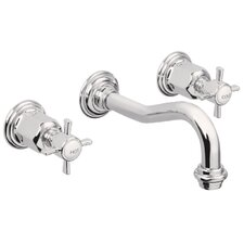Cardiff Double Handled Wall Vessel Lavaroty Faucet Trim