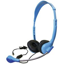Personal Stereo Headphone with Goose Neck Microphone