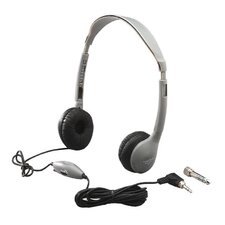 Leatherette Ear Cushioned Personal Volume Control Educational Headphone