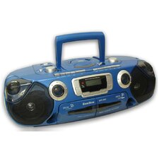 Portable CD Player with Dual Cassette and Radio