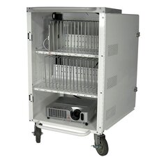 "30 Bay 38"" Tablet Security and Charging iPad Cart"