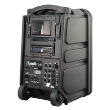 <strong>Hamilton Electronics</strong> Wireless Portable PA System with CD / DVD / MP3 Player