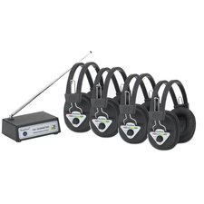 <strong>Hamilton Electronics</strong> Multi Wireless Listening Center with 4 Headphones