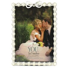 Britin Pearls and Bow Picture Frame