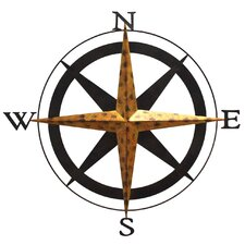 <strong>Fetco Home Decor</strong> Boreas Compass Wall Décor