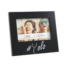 Expressions Wisona Yolo Black with Gems Picture Frame