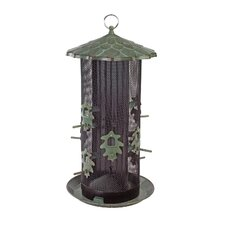 Belle Fleur Oak Leaf Dual Screen Decorative Caged Bird Feeder