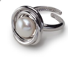 Sterling Silver Cultured Pearl Nest Ring