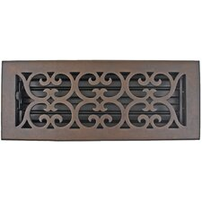 "5.5"" x 13.5"" Scroll Vent with Damper"