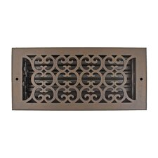 "7.5"" x 13.5"" Scroll Vent with Damper"