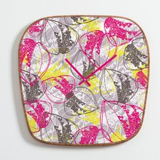 Rachael Taylor Organic Retro Leaves Clock