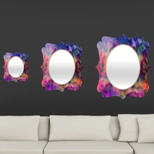 Amy Sia Sunset Storm Quatrefoil Mirror
