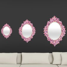 Garima Dhawan Watercolor Dots Berry Baroque Mirror
