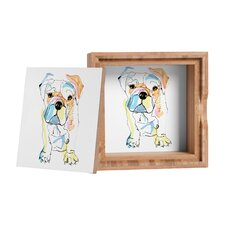 <strong>DENY Designs</strong> Casey Rogers Bulldog Color Storage Box