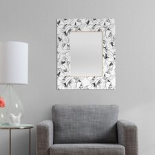 CayenaBlanca Black and White Lines Rectangular Mirror