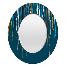 <strong>DENY Designs</strong> Geronimo Studio Drips Oval Mirror