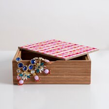 <strong>DENY Designs</strong> Betsy Olmsted Watercolor Houndstooth Jewelry Box