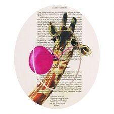 <strong>DENY Designs</strong> Coco de Paris Giraffe and Bubblegum Wall Clock