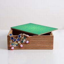 <strong>DENY Designs</strong> Jacqueline Maldonado Radiate Teal Gold Jewelry Box