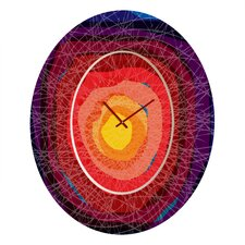 <strong>DENY Designs</strong> Raven Jumpo Tie Dye Madness Wall Clock
