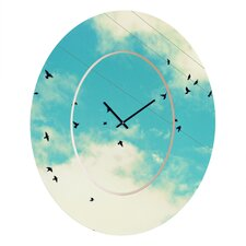 <strong>DENY Designs</strong> Shannon Clark Skies Ahead Wall Clock