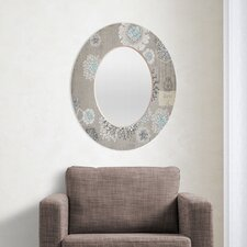 Iveta Abolina French Blue Oval Mirror