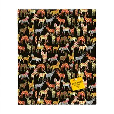 Sharon Turner Deer Horse Ikat Party Rectangular Magnet Board