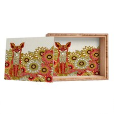 Sharon Turner Garden Fox Jewelry Box