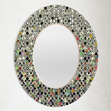 <strong>DENY Designs</strong> Sharon Turner Cellular Ombre Oval Mirror