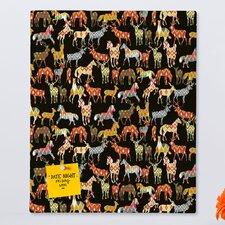Sharon Turner Deer Horse Ikat Party Rectangular Bulletin Board