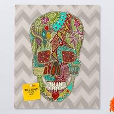 Sharon Turner Flower Skull Rectangular Bulletin Board