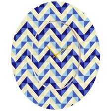 <strong>DENY Designs</strong> Jacqueline Maldonado Chevron Facet Wall Clock