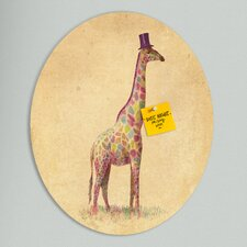 Terry Fan Fashionable Giraffe Oval Bulletin Board