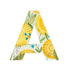 <strong>DENY Designs</strong> Cori Dantini Sun Burst Flowers Decorative Letters