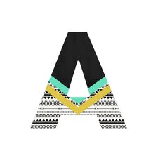 Allyson Johnson Mixed Aztec 1 Decorative Letters