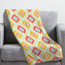 <strong>DENY Designs</strong> Jacqueline Maldonado Zig Zag Ikat Polyester Fleece Throw Blanket
