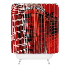 Aimee St Hill Phone Box Polyester Shower Curtain